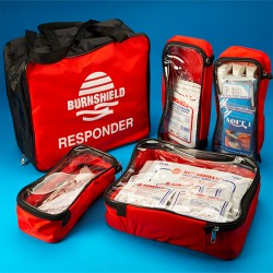 Emergency responder burns first aid kit