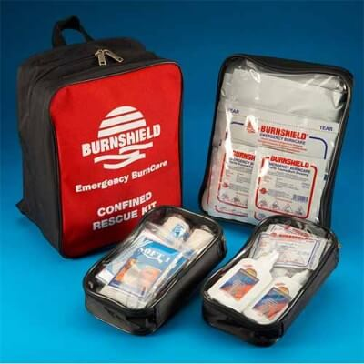 Confined space burns first aid kit