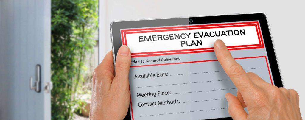 Emergency workplace fire evacuation plan and fire marshal training