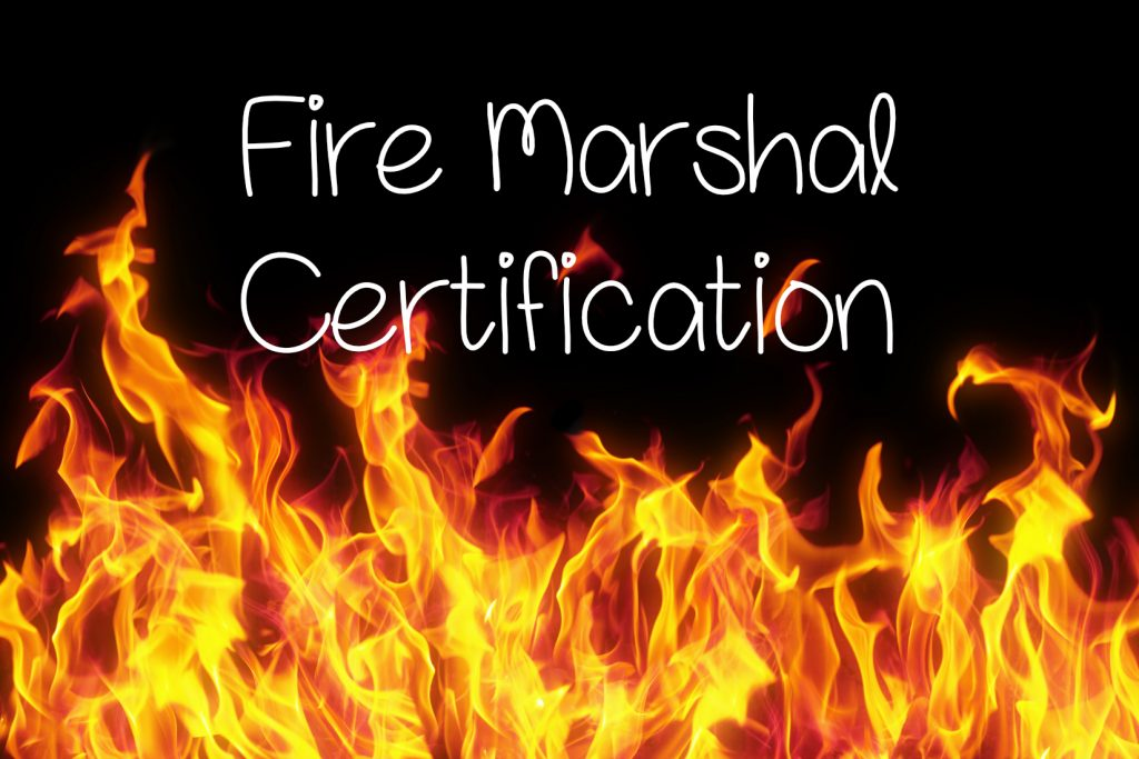 Workplace fire marshal certification